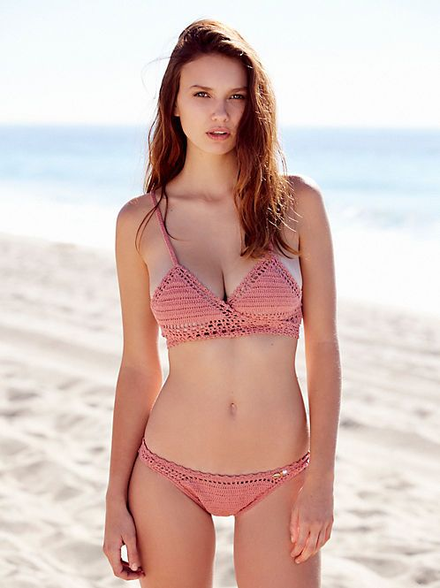 She Made Me Dhari Halter Bikini Top at Free People Clothing Boutique