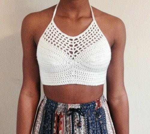 Summer Crochet Halter Top by ascrochets17 on Etsy