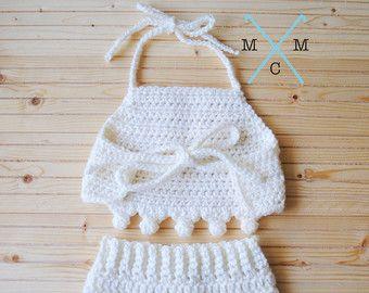 top halter baby girl crochet - Buscar con Google