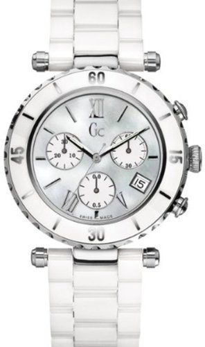 GUESS Gc DIVER CHIC White Ceramic Chronograph *** You can find more details by v...