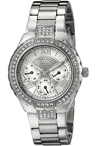 GUESS STEEL W0111L1,Women's Sparkling Hi-Energy,Stainless Steel Case,Mid-Siz...