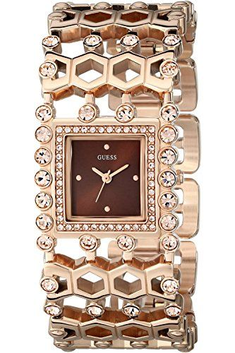 GUESS STEEL W0574L3,Women's Petite Dress,Rose Gold-Tone,Crystal on case,WR *...