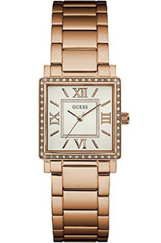 GUESS W0827L3,Ladies Dress,Stainless Steel,Rose Gold-Tone,Crystal Accented Bezel...