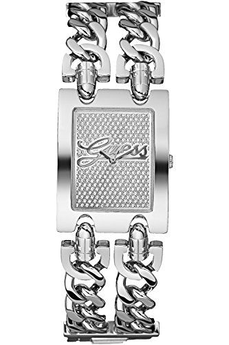 GUESS W80048L1,Ladies Rectangular Stainless-Steel Case Silver Dial ** This is an...