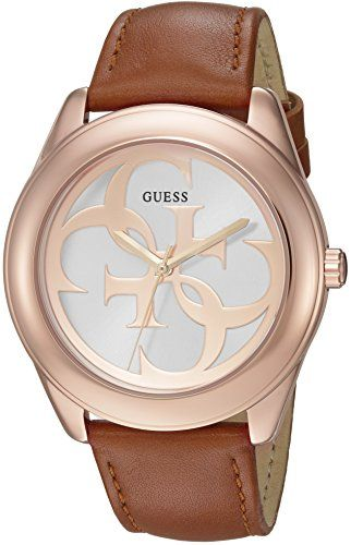 GUESS Women's Trendy Rose Gold-Tone Stainless Steel Watch with Analog Dial and B...