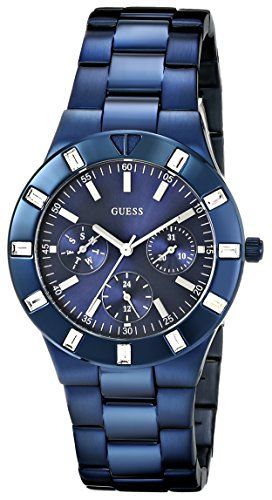 GUESS Women's U0027L3 Iconic Blue-Plated Stainless Steel Watch -- Read more ...