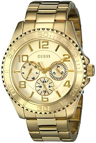 GUESS Women's U0231L2  Multi-Function Gold-Tone Sport Watch -- Details can b...