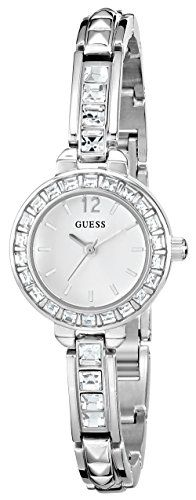 GUESS Women's U0429L1 Elegant Silver-Tone Jewelry Inspired Watch ** Learn mo...