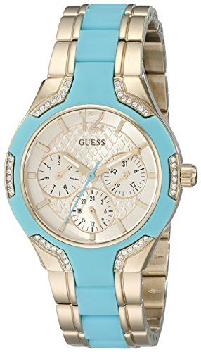 GUESS Women's U0556L6 Stainless Steel  Gold-Tone