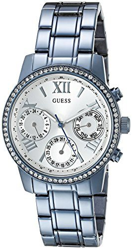 GUESS Womens U0623L4 Iconic Sky Blue Watch MultiFunction ** More info could be f...
