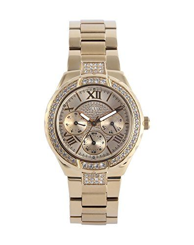 GUESS Women's W0111L2 Sparkling Hi-Energy Mid-Size Gold-Tone Watch -- Detail...