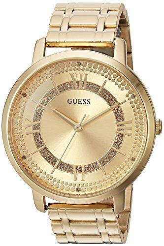 GUESS Women's Quartz Stainless Steel Casual Watch, Color:Gold-Toned (Model: U093...