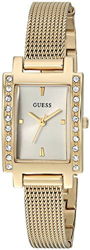 GUESS Womens Quartz Stainless Steel Casual Watch ColorGoldToned Model U0953L2 **...