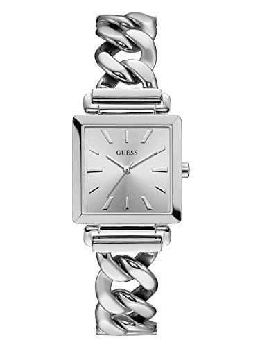 GUESS Womens Quartz Stainless Steel Casual Watch ColorSilverToned Model U1029L1 ...