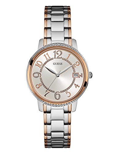 GUESS Womens Quartz Stainless Steel Casual Watch ColorTwo Tone Model U0929L3 ***...