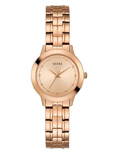 GUESS Womens Quartz Stainless Steel Dress Watch ColorRose GoldToned Model U0989L...