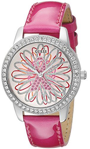 GUESS Womens U0032L5 2015 Limited Edition Watch Supporting Breast Cancer Awarene...