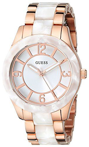 GUESS Women's U0074L2 Stainless Steel Rose Gold-Tone