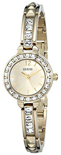 GUESS Womens U0429L2 Elegant GoldTone Jewelry Inspired Watch ** You can get addi...