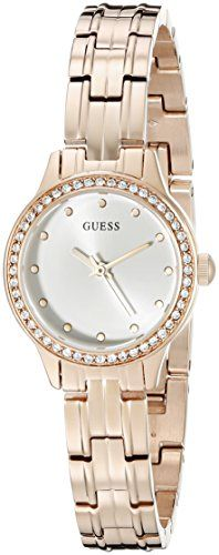 GUESS Womens U0693L3 Feminine Rose GoldTone Watch with SelfAdjustable Bracelet -...