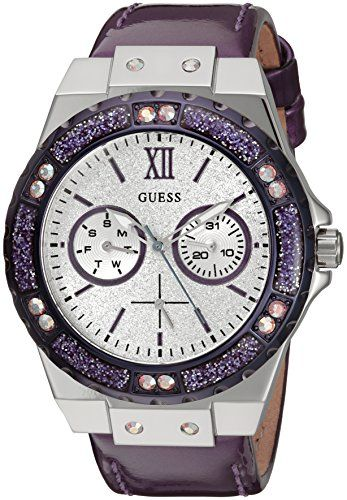 GUESS Womens U0775L6 Sporty SilverTone Stainless Steel Watch with Multifunction ...