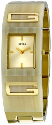 GUESS Women's W12107L2 Flair Champagne Dial Watch *** See this great product...