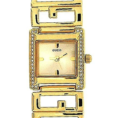 Guess Ladies Analogue Gold Tone Watch Swarovski Crystalized W11527L1 -- Be sure ...