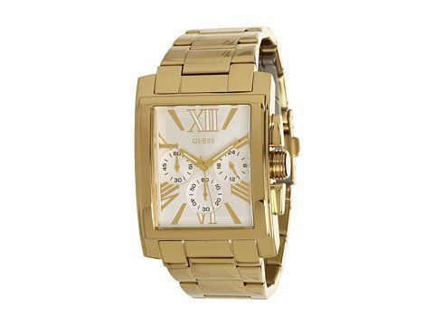 Guess U0009G2 silver tone chronograph dial stainless steel bracelet men watch --...