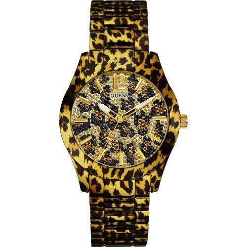 Guess W0001L2 Ladies FIERCE Leopard Gold Watch -- Check out this great product. ...
