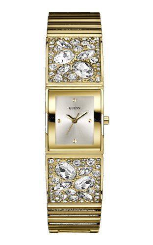 Guess W0002L2 Ladies CRUSHED ICE Gold Watch *** Read more  at the image link.