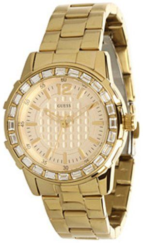 Guess Women's U0018L2 Dazzling Sport Petite Gold-Tone Stainless Steel Watch ...