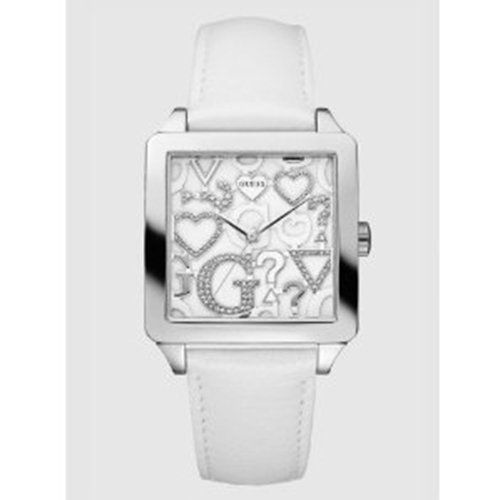 Guess Women's U85115L1 White Leather Quartz Watch with Silver Dial * More in...