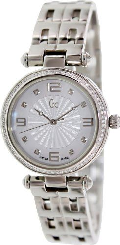 Guess Women's X17110L1S Silver Stainless-Steel Swiss Quartz Watch with Mothe...