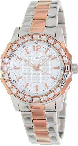 Guess Women's U0018L3 Dazzling Sport Petite Two-Tone Stainless Steel Watch * Con...