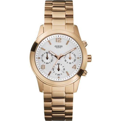 W16571L1 Guess Mini Spectrum Gold-Tone Chronograph Ladies Watch -- Check this aw...