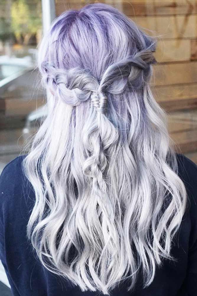 Adorable Silver Lavender Hair #lavenderhair #ombre #blondehair  ❤️ Looking f...