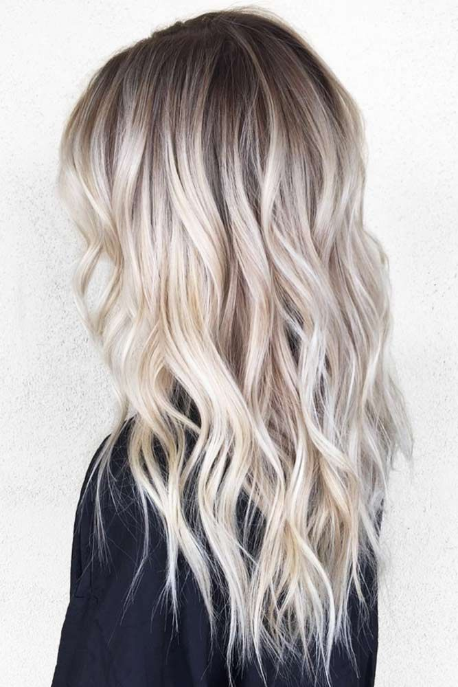Hair Color 2017 2018 Ash Blonde Ombre Hair Style For A Long Hair