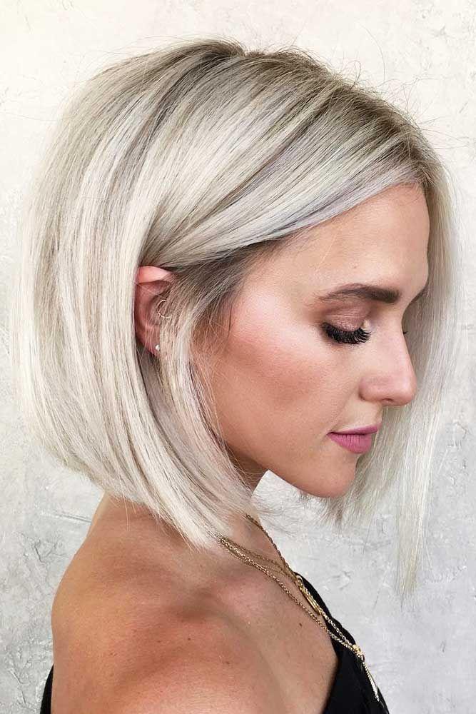 Blonde Bob for Straight Hair #blondehair #bob ❤️ Try platinum blonde hair sh...