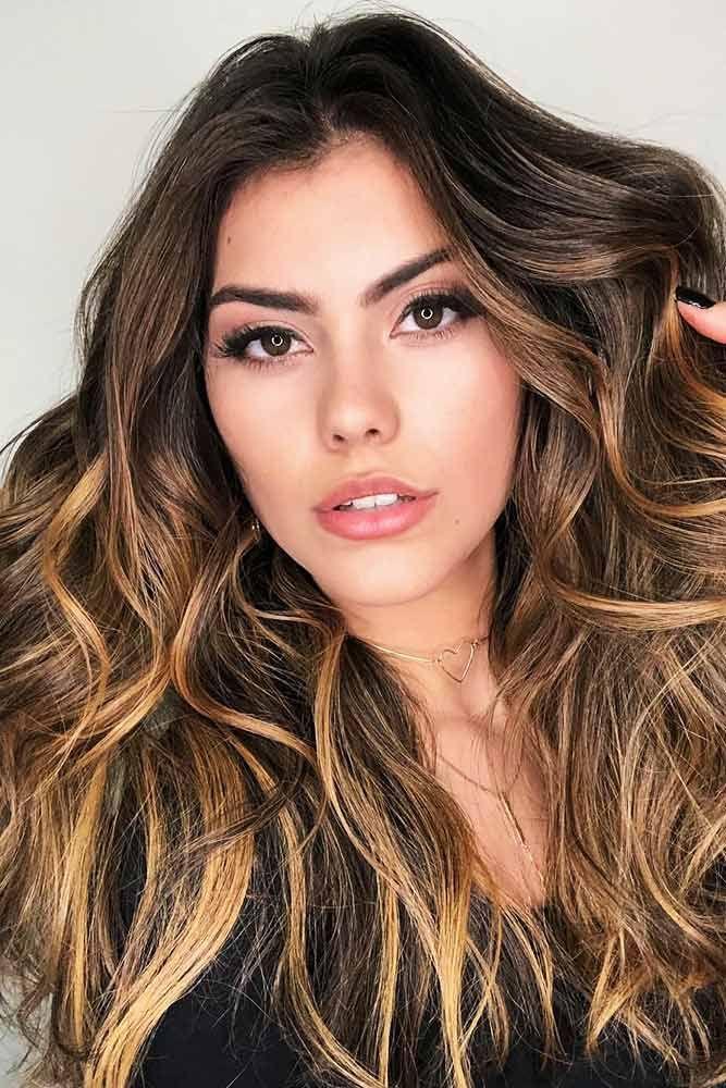 Bronze Highlights for Natural Brown Hair #brunette #highlights ❤️ Highlighte...