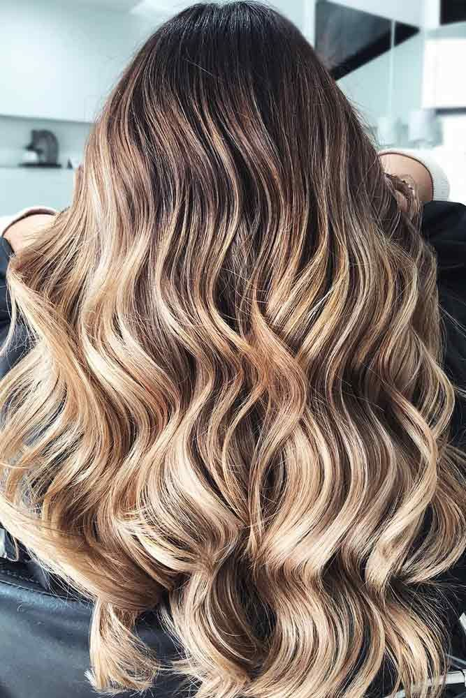Brown Hair with Blonde Highlights #longhair #wavyhair #balayage ❤️ Highlight...