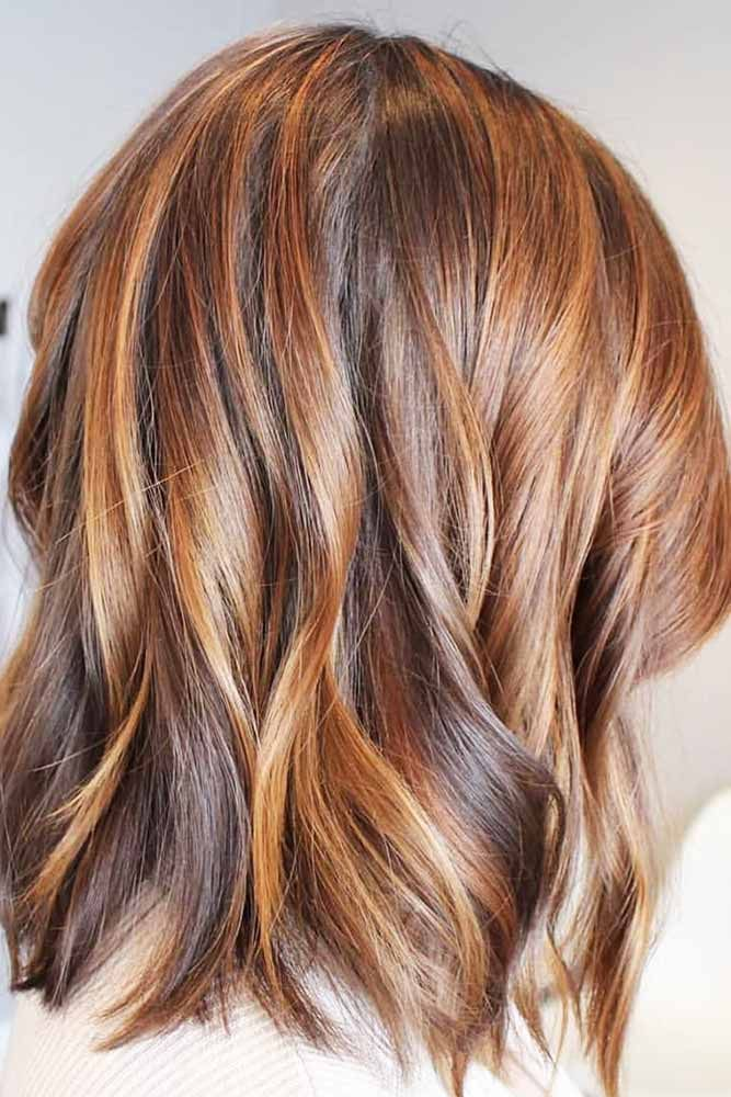 Caramel Highlights Around The Face Make Your Brighter