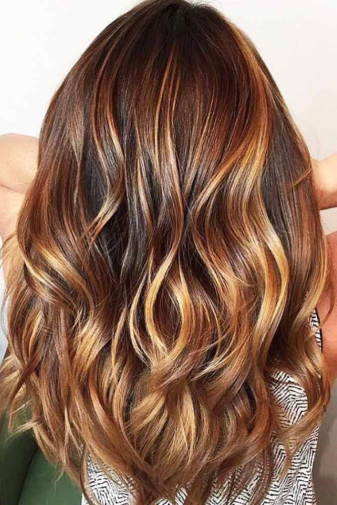 Hair Color 2017 2018 Chestnut Hair Color With Caramel Highlights