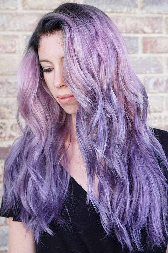 Chic Lavender Ombre #lavenderhair #longhair #ombre ❤️ Looking for lavender h...