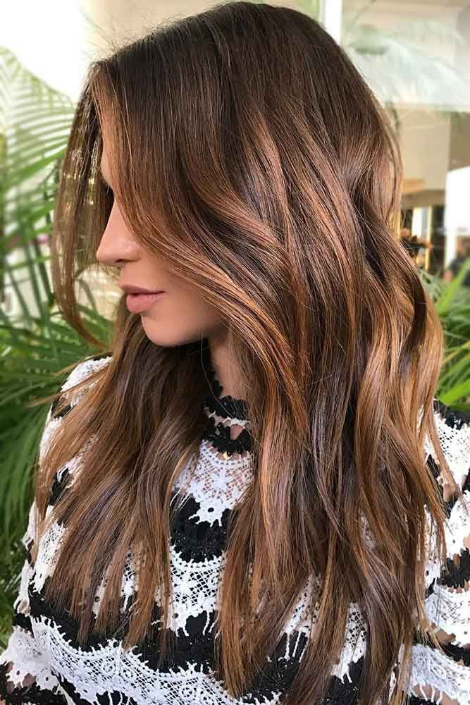 Chocolate Brown Hair Color With Chestnut Balayage #brownhair #balayage ❤️ Wa...