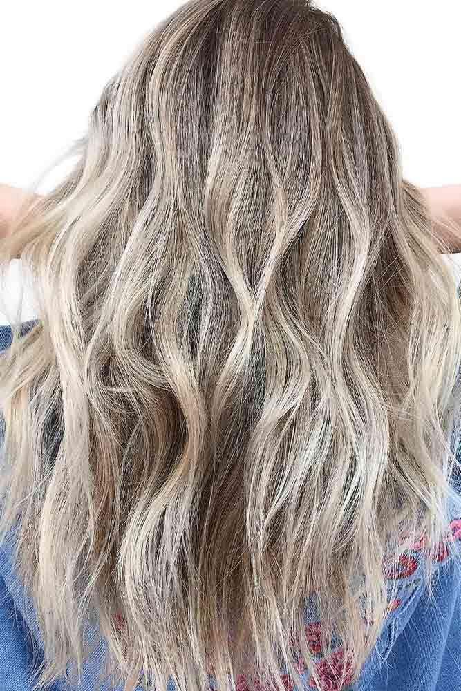 Dark Blonde Highlighted Hair #longhair #wavyhair #blondehair  ❤️ Highlighted...