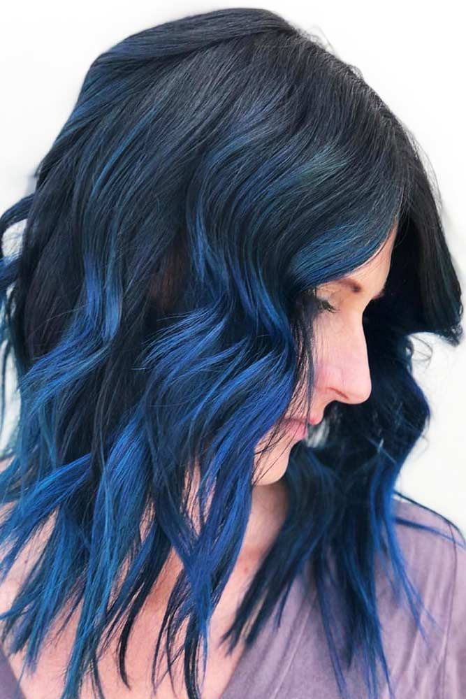 Hair Color 2017 2018 Deep And Gentle Vibrant Blue Brunette