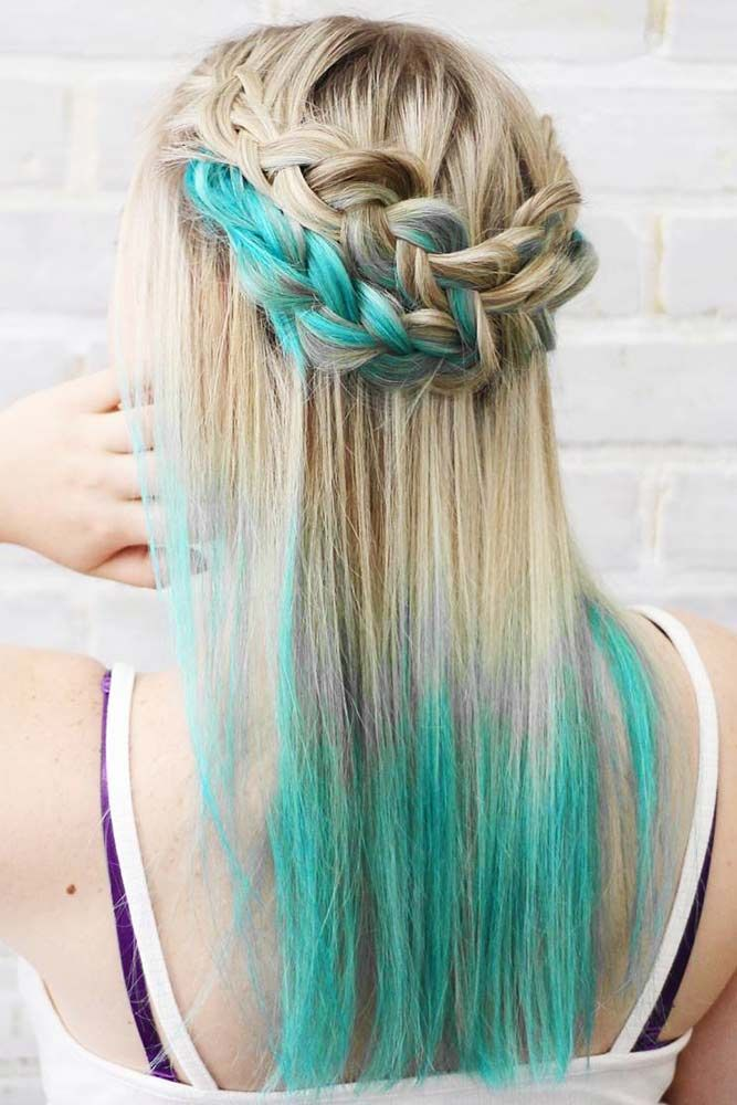 Hair Color 2017 2018 Dirty Blonde Hair With Blue Tips Blondehair