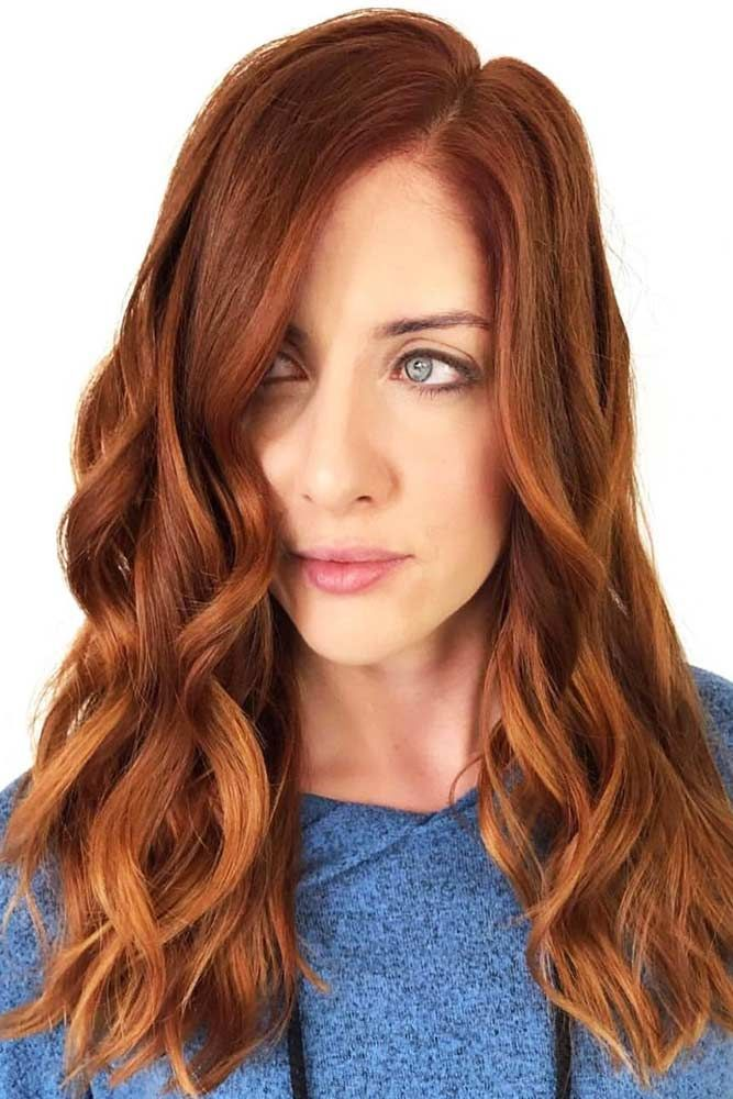 Ginger Red For Pale Cuties #redhair #gingerhair #wavyhair ❤️ Discover the re...