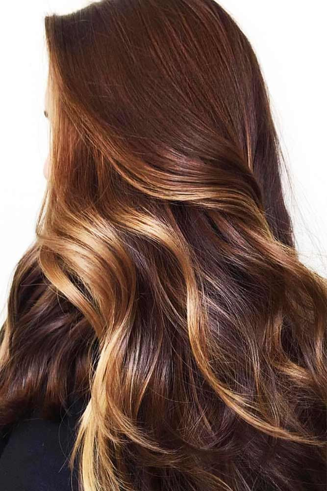 Golden Blonde Highlights For Chestnut Brown #brownhair #highlights ❤️ Want t...