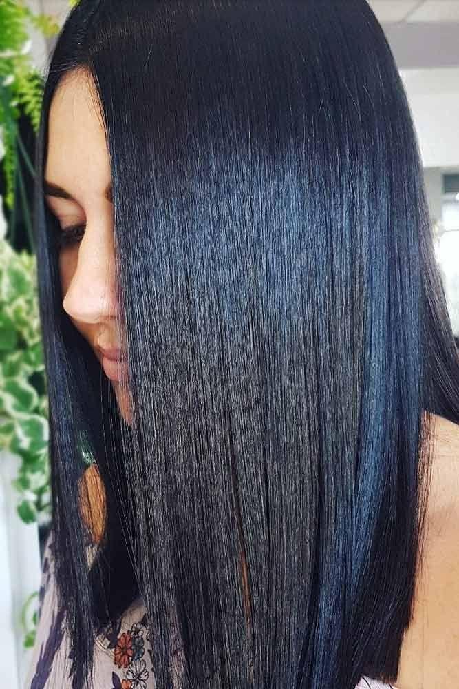 Hair Color 2017 2018 Jet Black With Dark Blue Tint Brunette